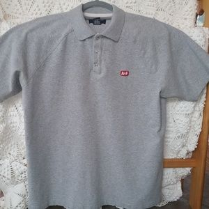 Abercrombie & Fitch Mens Gray Polo Shirt Size M
